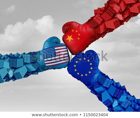 european china and american trade fight stock photo © lightsource
