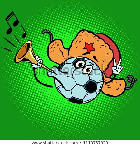 Russian Fan horn, loud sound. Character soccer ball football Stock photo © rogistok