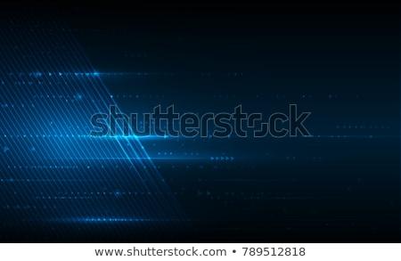 Fényes kék technológia absztrakt háló sötét Stock fotó © SArts