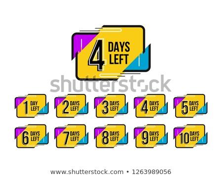 elegant number of days left badge design Stock photo © SArts