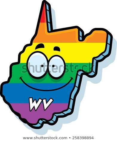 Cartoon Virginia Occidentale matrimonio gay illustrazione sorridere Rainbow Foto d'archivio © cthoman