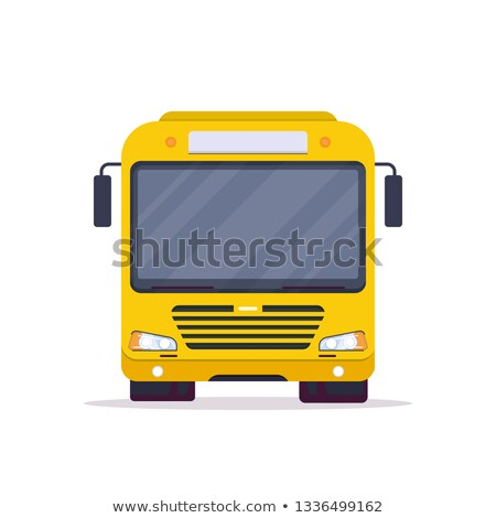 school bus   modern line design style banner stock photo © decorwithme