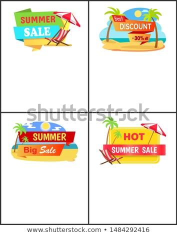 nyár · vásár · szett · weboldal · szalag · sablonok - stock fotó © robuart