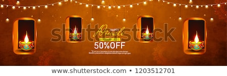 Stock photo: abstract artistic creative diwali background