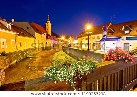 Arroyo edad calles vista ciudad Foto stock © xbrchx