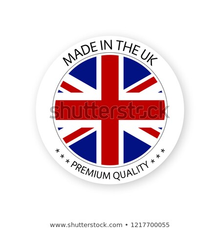 Modern vector Made in United Kingdom label isolated on white background, simple sticker with British stock photo © kurkalukas