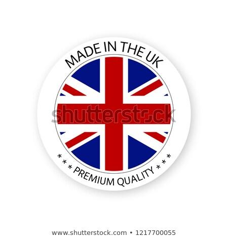 современных вектора Великобритания Label изолированный белый Сток-фото © kurkalukas