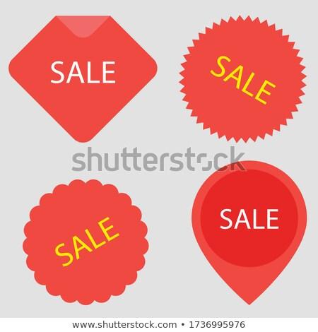 Wektora detalicznej sprzedaży odizolowany nowoczesne podpisania Zdjęcia stock © kyryloff