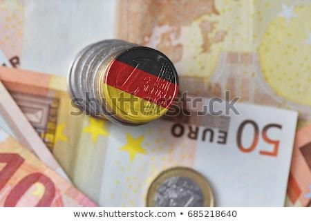 enflasyon · 3D · kırık · para · imzalamak · siyah · beyaz - stok fotoğraf © lightsource
