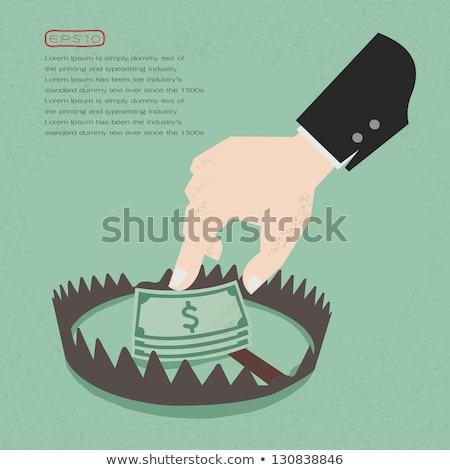 Pénz üzlet kockázat csapda illusztráció érmék Stock fotó © lenm