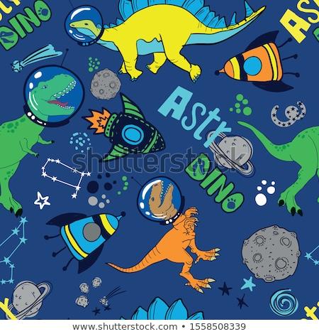 Stockfoto: Cartoon · illustratie · meisje · ontdekkingsreiziger · kaart