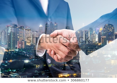 empresário · escritório · trabalho · em · equipe · dobrar · exposição - foto stock © alphaspirit