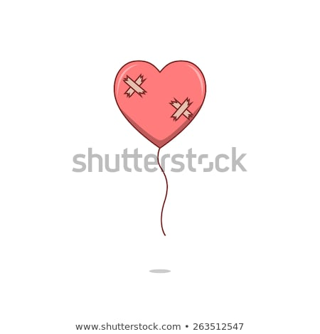 damaged heart love hurts concept vector Stock photo © blaskorizov
