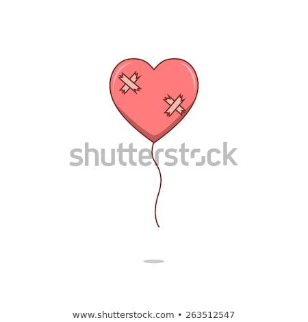 damaged heart love hurts concept vector stock photo © blaskorizov