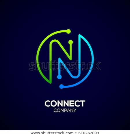 letter n logo green logotype icon vector sign stock photo © blaskorizov