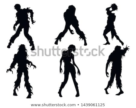 Set of zombie at night Stock photo © bluering