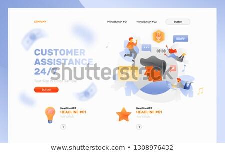 24/7 service concept banner header. Stock photo © RAStudio