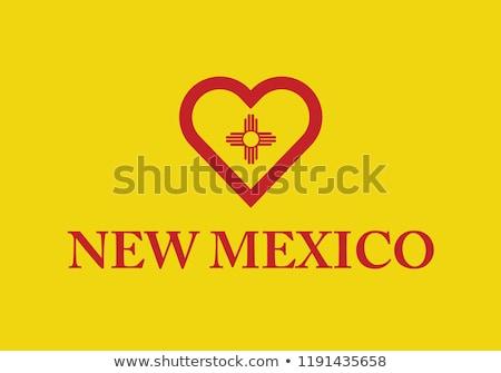 墨西哥 旗 心臟形狀 插圖 設計 背景 商業照片 © colematt