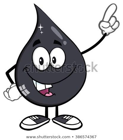 Glimlachend petroleum olie drop Stockfoto © hittoon