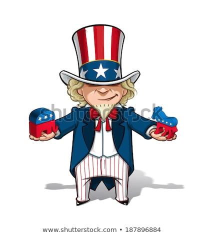 tio · vetor · cartaz · americano · governo · gráficos - foto stock © hittoon