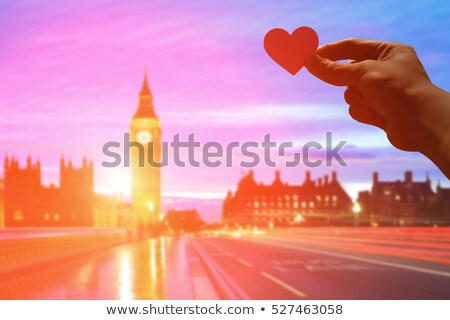 man holding the Clock Tower in London, UK Stock photo © nito
