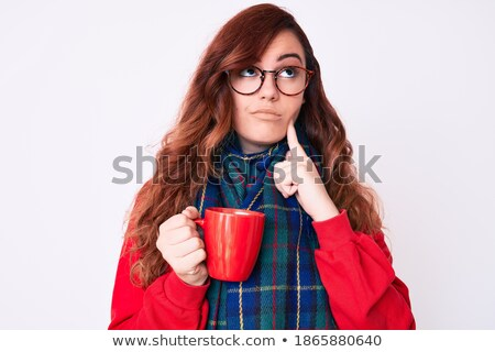 путать зима шарф Постоянный Сток-фото © deandrobot