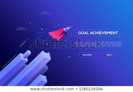 Affaires héros modernes coloré isométrique blanche Photo stock © Decorwithme