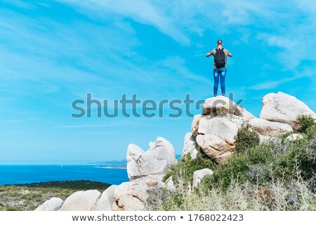 man taking a photo in corsica france stock photo © nito