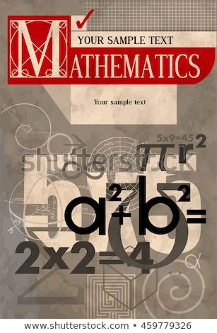 Algebra concept icons pattern Stock photo © netkov1