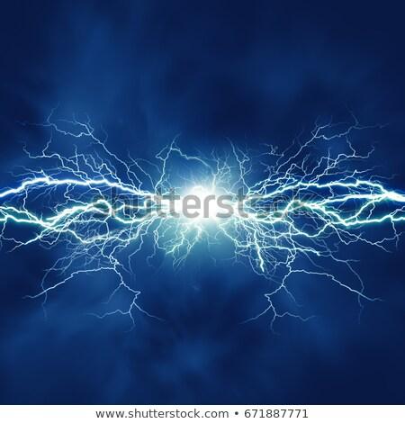 Onweersbui natuur illustratie hemel water boom Stockfoto © bluering