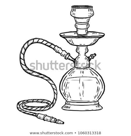 vector hand drawn hookah stock photo © netkov1