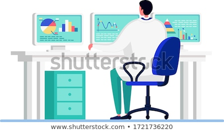 icons scientists discovery study vector isolated flat cartoon illustration stock photo © pikepicture