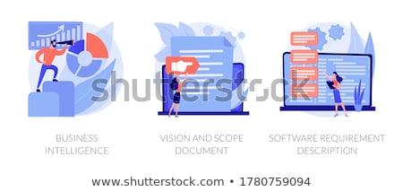 Software requisito descripción minúsculo personas desarrolladores Foto stock © RAStudio