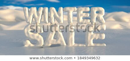 Christmas Sale Clearance Poster Snowy Landscape Stock photo © robuart