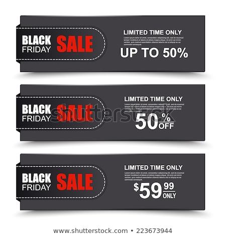 Black Friday Sale Web Banners with Basket and Gift Stock photo © robuart