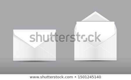Office Papers, Envelopes Closed and Open Isolated Stock photo © robuart