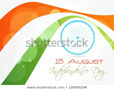 indian election banner with tri color flag Stock photo © SArts