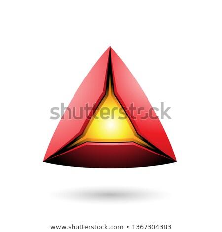Rojo pirámide núcleo vector ilustración Foto stock © cidepix