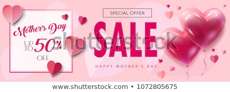 Womens day banner of paper cut chinese woman Stock photo © cienpies