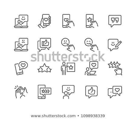 Ikon szív szövegbuborék ahogy közösségi háló fehér Stock fotó © FoxysGraphic