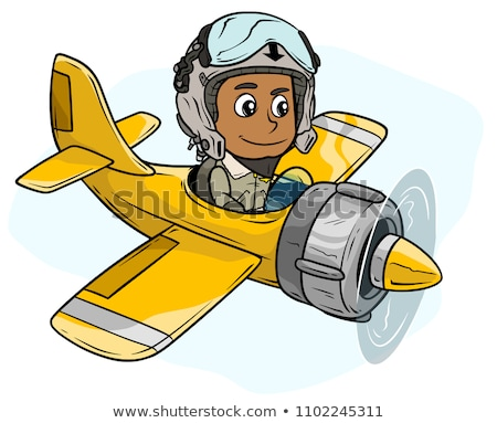 vector pilot cartoon character stock photo © VetraKori