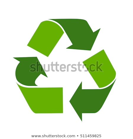 Recycle эмблема белый жизни цикл Стрелки Сток-фото © sonia_ai