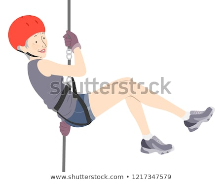 Senior Woman Thrill Seeker Illustration Stock photo © lenm
