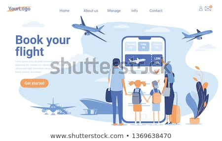 online · ticket · reis · ontwerp · stijl - stockfoto © genestro