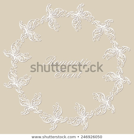 Vintage Baroque Victorian Invitation card Vector. Floral ornamen Stock photo © frimufilms
