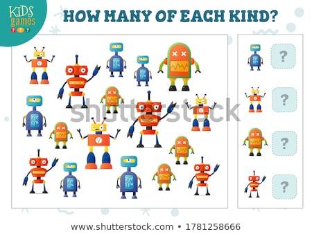 how many robots cartoon counting game stock photo © izakowski