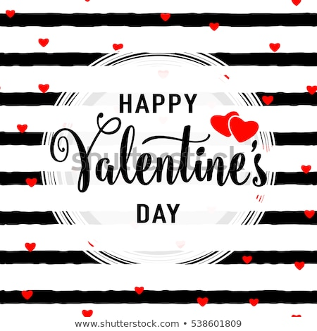 Fashionable Decoration For Valentine Day Vector Stock photo © pikepicture