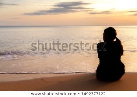 カップル · 座って · ハンモック · 男 · 風景 · 白 - ストックフォト © andreypopov