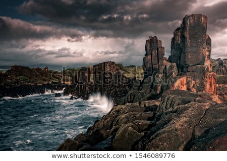 Bombo basalt columns landscape beauty Stock photo © lovleah