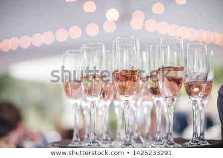 wina · szampana · okulary · tabeli · selektywne · focus · ślub - zdjęcia stock © dariazu